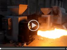 生物质颗粒燃烧机-厂家试机