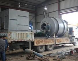 四川内江隆昌县15吨天然气型沙子烘干机安装现场
