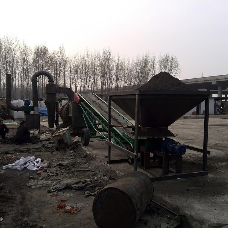 河南漯河客户-沙子烘干机