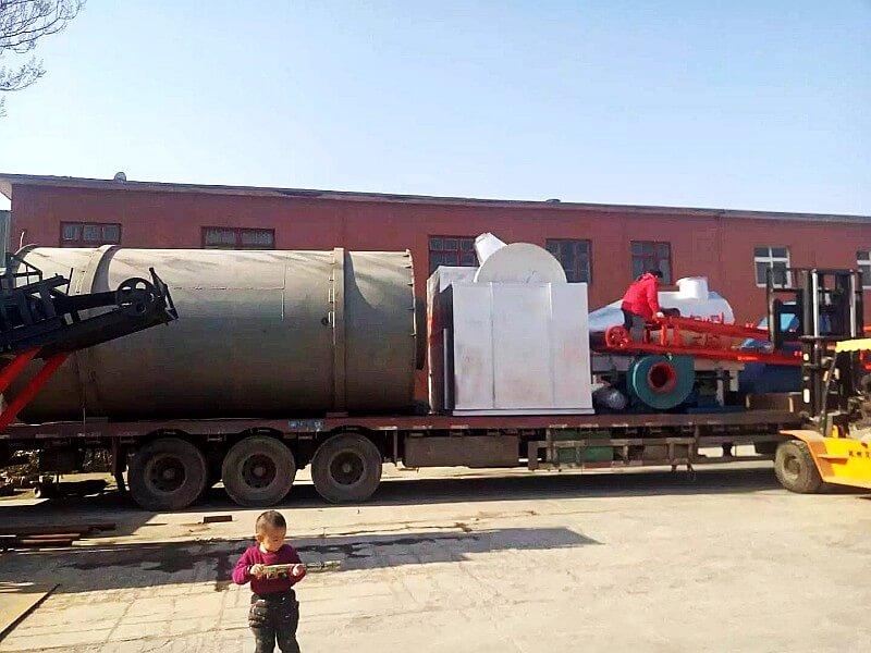 40吨/小时沙子烘干机生产线发货