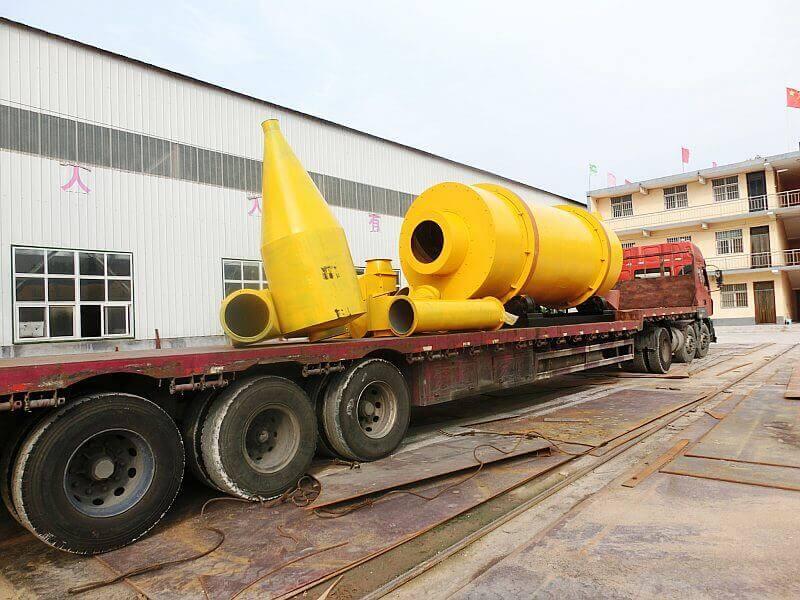 大型沙子烘干机发往广东深圳二